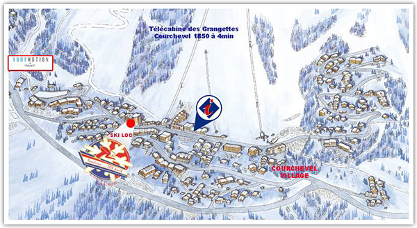 Plan de Courchevel 1550